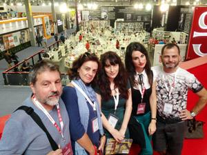 La delegación gallega en la Feria del Libro de Guadalajara (México).