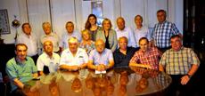 Directivos de la Federación que asistieron a la última asamblea del año.