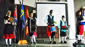 Banda de Gaitas de la FAAC que actuó bajo la dirección de Abel Fernández.