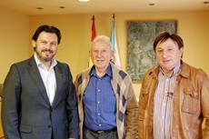 Antonio Rodríguez Miranda, Ricardo Domínguez Gil y Arturo Grandal.