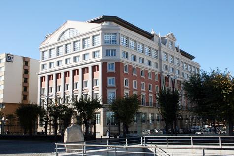 Imagen del exterior de la sede de la Diputación de A Coruña.