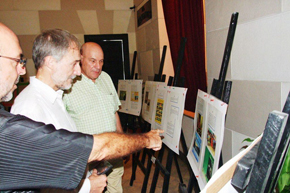 Entre los visitantes de la exposición estuvieron el embajador Juan Francisco Montalbán y el empresario español Eduardo Vilas.