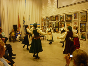 Grupo de baile gallego del Patronato.