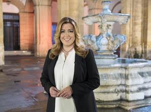Susana Díaz, durante el Mensaje de Fin de Año dirigido a todos los andaluces.