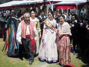 Miembros de la colectividad valenciana en Chile.