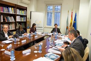 El director xeral de Relacións Exteriores e coa UE, Jesús Gamallo, presidió la reunión.