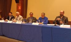 Rodríguez Miranda, Valentín García, Serafín Portugal, Luis Caramés y Martiño Noriega en la presentación.