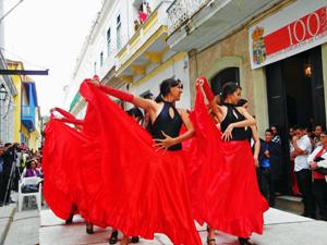También hubo bailes españoles.
