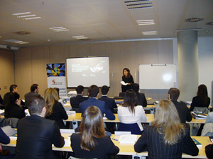 Imagen de la reunión inicial del Máster Internacional de Comercio de ADE.