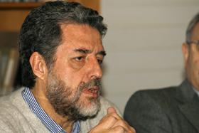 Luciano Concheiro en el Consello da Cultura Galega.