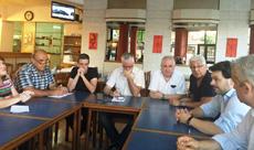 Rodríguez Miranda con los organizadores del 'Buenos Aires celebra Galicia'.