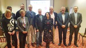 Participantes en la reunión de la Federación Europea del Camino celebrada en Lisboa.