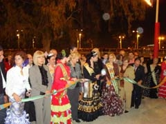 Las autoridades cortan la cinta durante el acto inaugural de la Feria.