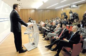 Alberto Núñez Feijóo explica las características de este proyecto.