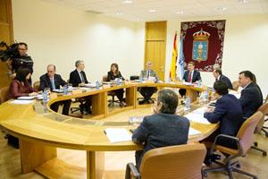 Imagen de la reunión del Gobierno gallego en la que se aprobó la convocatoria de estos programas.