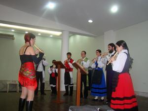Imagen de archivo de uno de los seminarios de la Secretaría da Emigración impartidos en el Centro Español de Santos, en Brasil.