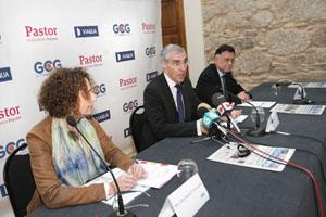 El conselleiro de Economía, Emprego e Industria, Francisco Conde, durante su intervención en el V Foro Internacionalización de la Economía Gallega.
