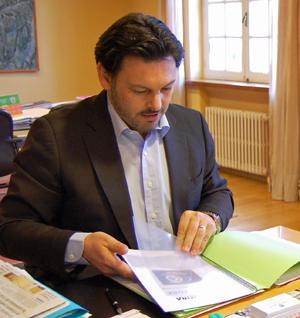 El secretario xeral da Emigración, Antonio Rodríguez Miranda.