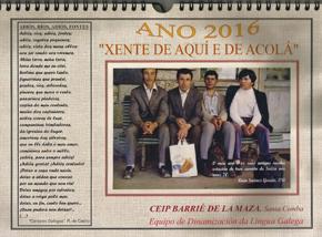 La primera página del calendario se abre con los versos de 'Cantares Gallegos' de Rosalía de Castro.