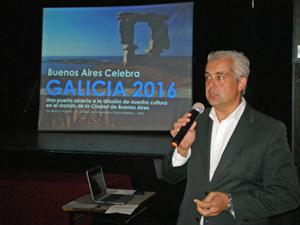 López Dobarro animó a los directivos a seguir trabajando para poner bien alto el nombre de Galicia en la capital argentina.