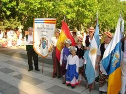 Un grupo de emigrantes canarios en La Plata, Argentina.