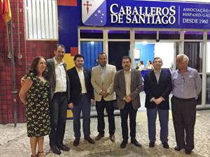El secretario da Emigración en la Sociedad Caballeros de Santiago.