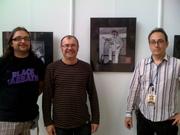 Tolo Aguilar, Joan Carles Vilella y Miquel Morro.