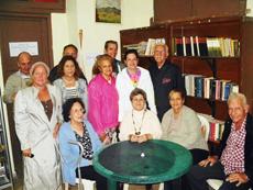 Inauguración del 'Rincón de la lectura'.