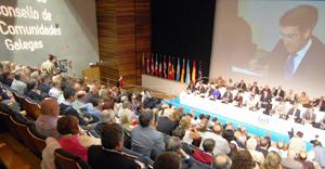 Una de las sesiones del X pleno del Consello que tuvo lugar en Santiago de Compostela en 2012.