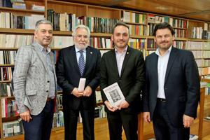 Valentín García, Miguel Santalices, Manoel Carrete y Antonio Rodríguez Miranda.
