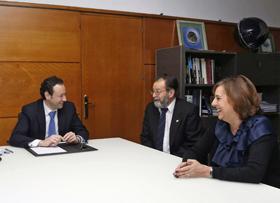 Guillermo Martínez, Joaquín Hernández y Begoña Serrano.