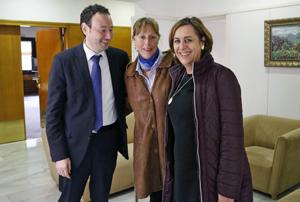 Guillermo Martínez, Esperanza Menéndez y Begoña Serrano.
