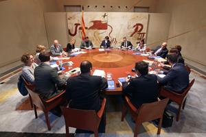 Reunión del Consell Executiu del pasado 5 de abril.