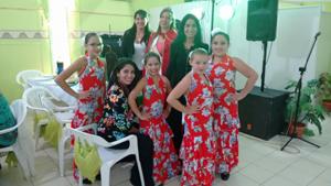 Las jóvenes del Centro Andaluz de Comodoro Rivadavia.