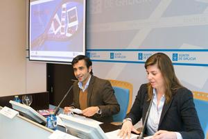 El conselleiro José Manuel Rey Varela y la directora xeral de Xuventude, Participación e Voluntariado, Cecilia Vázquez, presentaron la Campaña de verano 2016.