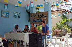 Lidia Iris Carballo y Mario Ramírez presentaron su investigación en Cabaiguán.