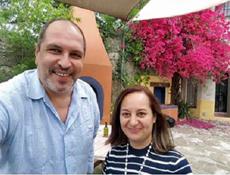 Alejandra Vilalta con José María Benarroch visitaron las instalaciones de la próxima Casa de España en la ciudad de Santiago.