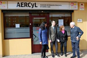 En el centro, José Manuel Herrero y a su izquierda la presidenta de Aercyl, Francisca Cabello.