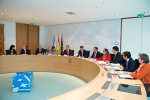 Imagen del Consello de la Xunta del día 19, presidido por Alberto Núñez Feijóo, que aprobó el segundo paquete de medidas.