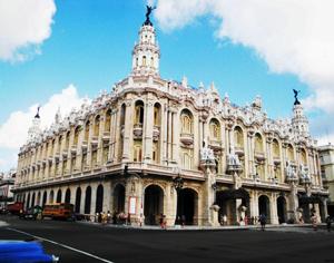 Vista del antiguo Palacio del Centro Gallego de La Habana, hoy Gran Teatro de La Habana'Alicia Alonso'.