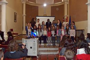 Los escolares londinenses interpretaron una canción en gallego.