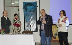 El presidente de la entidad, Manuel López Fernández, se dirige a los asistentes al acto.