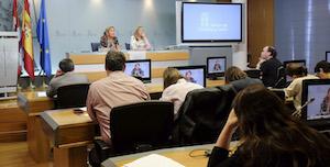 Rueda de prensa tras el Consejo de Gobierno que aprobó estas incorporaciones al Registro de comunidades castellanas y leonesas.
