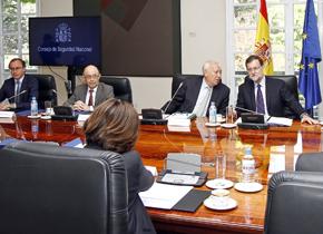 Mariano Rajoy presidió la reunión del Consejo de Seguridad Nacional.