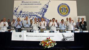 Clausura del XI Consello de Comunidades Galegas.