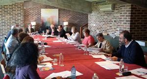 Un momento de la reunión de la Comisión Sociolaboral del CGCEE.