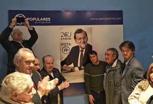 Afiliados y simpatizantes del PP asistieron al lanzamiento de la campaña.