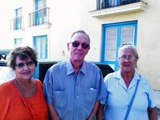 Gloria Vallejo, Eusebio Leal y Adela Hernández.