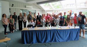 Los participantes en el seminario.