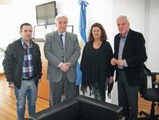 Mario Álvarez, Marcelo Óscar Collomb, Josefina Díaz y Jorge Mosteiro.